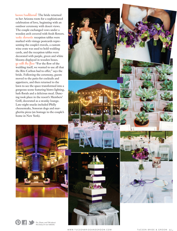 Tucson Bride & Groom - Winter/Spring 2015 - Featured Wedding