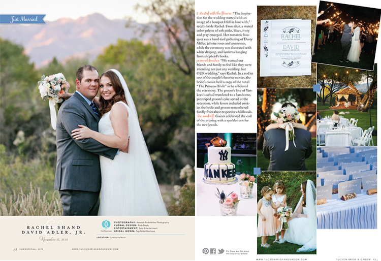 Tucson Bride & Groom - Summer/Fall 2015 - Featured Wedding